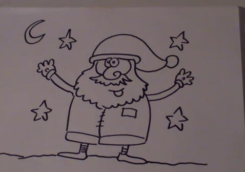 Draw Santa Claus with Amit Offir