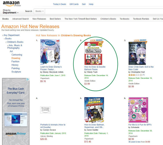 Amazon Hot New Releases - How to Draw & Doodle Balloon Faces